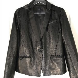 Banana Republic Sequin Blazer Monogram Label